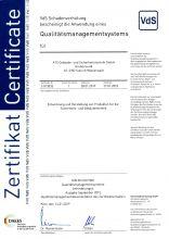 ISO9001:2015 Zertifikat